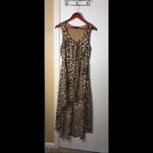 NWOT🎉 Leopard High Low Dress